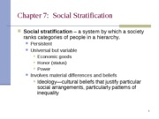 Ch 7 Stratification-1