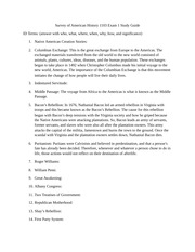 History 1103 Exam 1 Study Guide