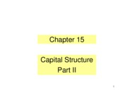 Ch 15 Capital Structure Part II