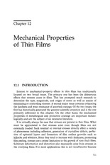 ch.12 – Mechanical properties of thin films
