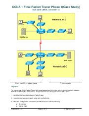 Case Study - CCNA1 v4 Packet Tracer  Phase 1 Fall 2013