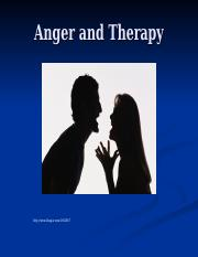 Anger and Therapy Lecture.ppt