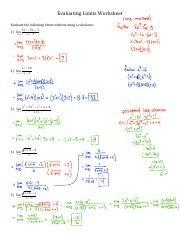 Evaluating Limits Worksheet solutions.pdf