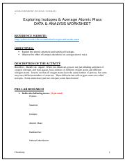 Investigating Isotopes and Average Atomic Mass_DATA AND ANALYSIS WORKSHEET.docx