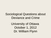 Lecture 8 Crime & Deviance william flynn