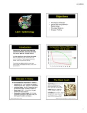 Lab 9 Epidemiology powerpoint