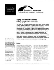 Howe - Aging and Smart Growth