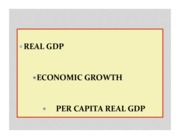 Real GDP + Economic Growth