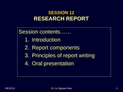 Session 12 - RESEARCH REPORT