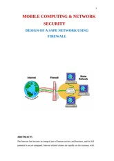 MOBILE COMPUTING & NETWORK