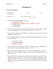 Answers Worksheet 3 - Chemistry 102F Fall 2013 Worksheet#3 ...