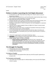 AP Government - Chapter 5 Notes