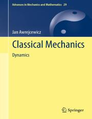 MechJan Awrejcewicz -Classical Mechanics_ Dynamics-Springer-Verlag (2012).pdf