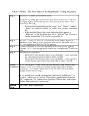 WEEKS 5, 6, and 7 Olson's notes, four steps of the hypothesis testing process PDF  R 4.0 Sept 2014.p