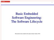 Lecture 16 - Basic Embedded Software Engineering