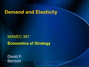 Demand and Elasticity