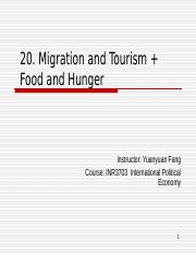 20. Migration and Tourism+Food and Hunger-BB