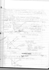 Econ 132 Class Notes- Aggregate Demand and Aggregate Supply