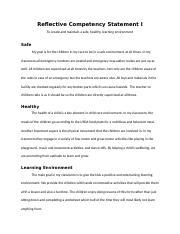 cda competency statements 1-6