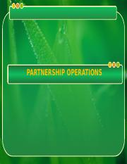 2 PARTNERSHIP OPERATIONS