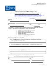 Student Service-Learning Verification Form.Revised 2013.docx