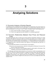 Chapter 3 Analyzing Solutions LINDO