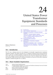 Chapter 24. United States Power Transformer Equipment Standards and Processes
