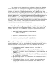 Rel & Sci Final Assignment (Spring 2015)