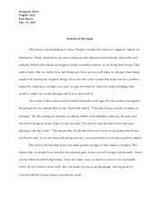 Analysis of the essay