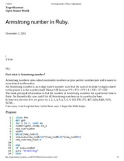 Armstrong number in Ruby