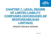chapter 7 Legal regime of limited liability companies (sociedad limitada)