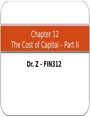 Chapter 12 - Part II