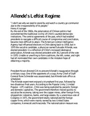 Allende's Leftist Regime - Reading