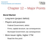 Chapter 12 - Major Points