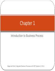 Chapter 1 - Introduction to Business Processes