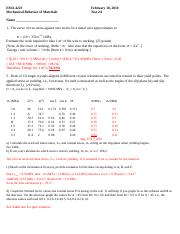 Test 2 March 12 2015 Solutions