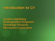 #1 Introduction to C#