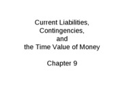 Mgmt 200 Spring 2010 Chap 9 Liabilities and Present Value