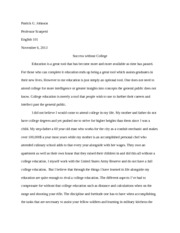 Third Major Essay: Success without College