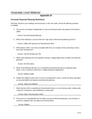 assignment 1 financial planning 1 describe two examples of important things that financial planning skills can help you do, and explain why these things are important to you personally.