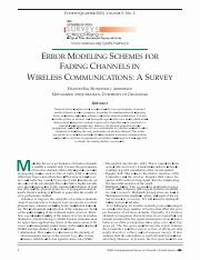 Error modeling schemes for fading channels in wireless communications- A survey.pdf