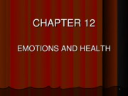 Chapter 12, Emotions, Stress & Health