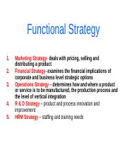 Functional Strategy-6