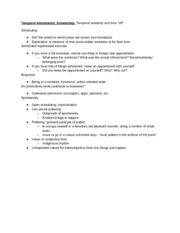 CMS TM 372T Temporal Enactments--Scheduling Notes