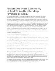 Factors Are Most Commonly Linked To Youth Offending Psychology Essay.docx
