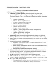Biological Psychology Final Exam Study Guide