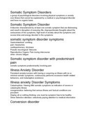 Disorders Notes