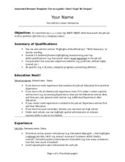 annotated resume template annotated resume template use as a