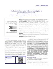 Evaluation of anti-ulcer effect of amlodipine in rats model.pdf