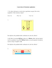 Conservation of Momentum Applications